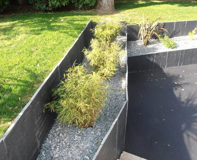 Plantation sur paillage en schiste vert iroise
