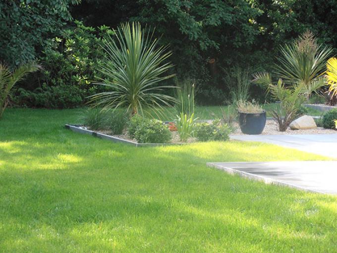 Terrasse et plantations