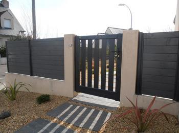 Clôture bois et portail bois ajouré